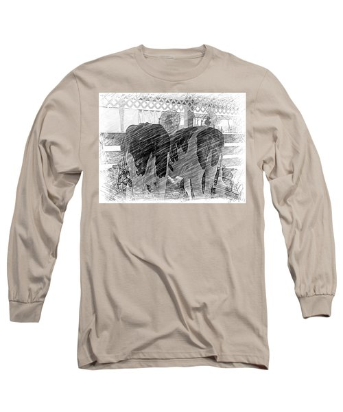 Moo...ving At The County Fair Long Sleeve T-Shirt