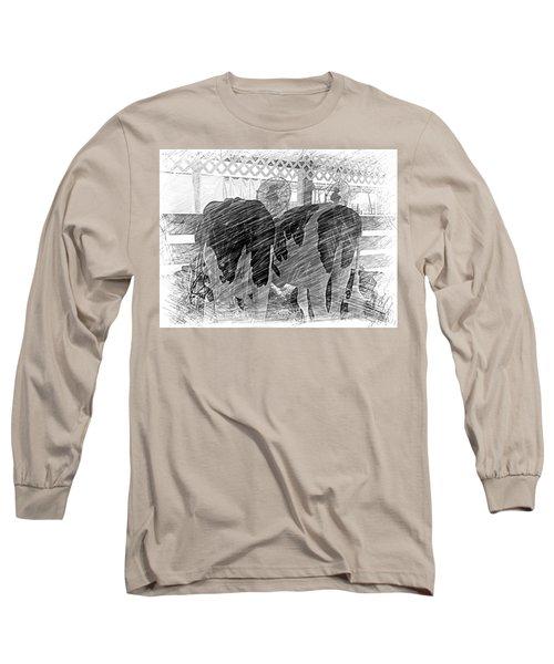 Moo...ving At The County Fair Long Sleeve T-Shirt