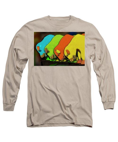Long Sleeve T-Shirt featuring the photograph Mooving On by Paul Wear