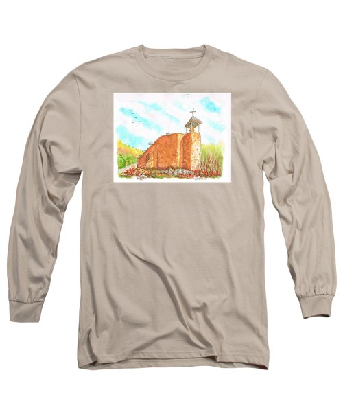 Morada De La Conquistadora Chapel, Santa Fe, New Mexico Long Sleeve T-Shirt