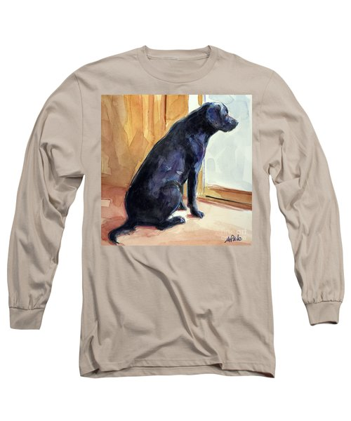 Long Sleeve T-Shirt featuring the painting Morgan's View by Molly Poole
