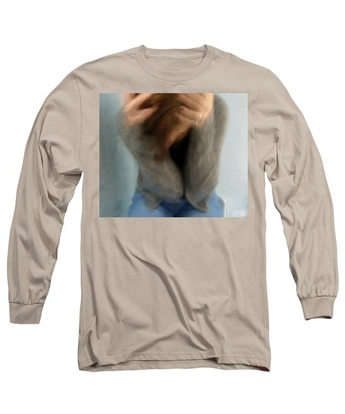 Long Sleeve T-Shirt featuring the digital art Morning Anxiety by Gun Legler