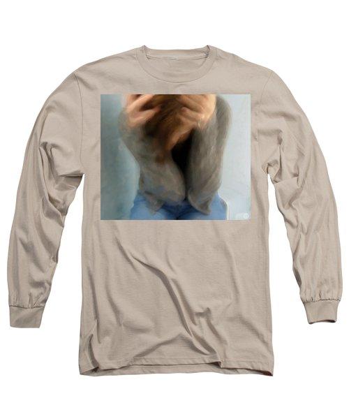 Morning Anxiety Long Sleeve T-Shirt by Gun Legler
