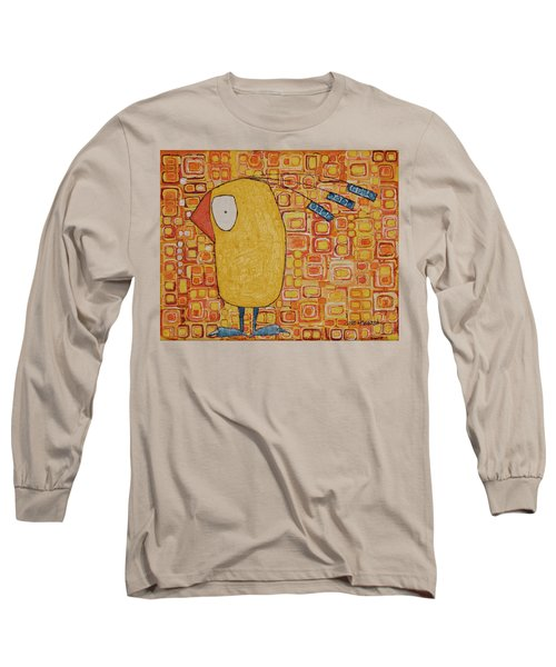 Long Sleeve T-Shirt featuring the painting Morning Bird by Donna Howard