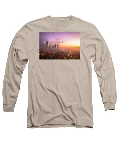 Morning Charlotte Rush Hour Long Sleeve T-Shirt by Serge Skiba