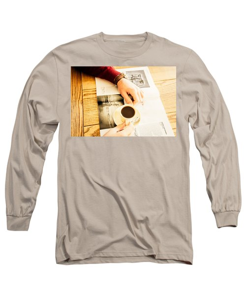 Morning Coffee Long Sleeve T-Shirt by Cesare Bargiggia