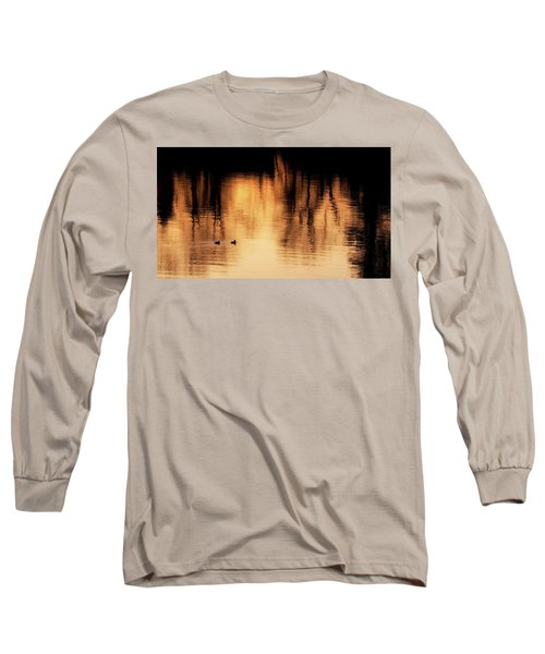 Long Sleeve T-Shirt featuring the photograph Morning Ducks 2017 by Bill Wakeley