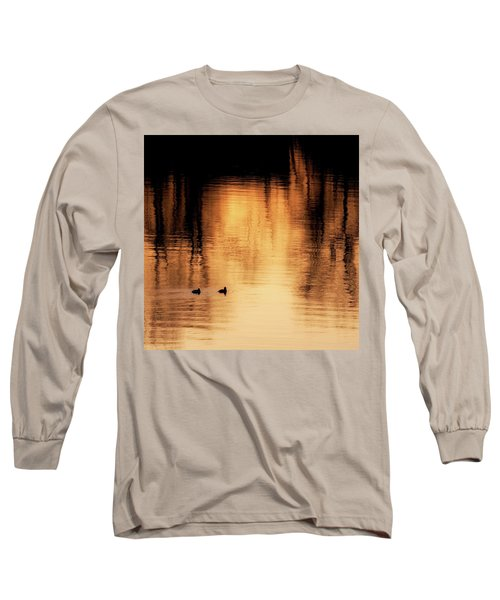 Long Sleeve T-Shirt featuring the photograph Morning Ducks 2017 Square by Bill Wakeley