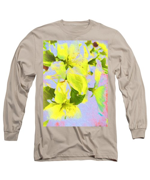 Long Sleeve T-Shirt featuring the photograph Morning Floral by Kathy Bassett