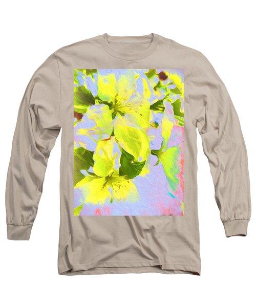 Morning Floral Long Sleeve T-Shirt by Kathy Bassett
