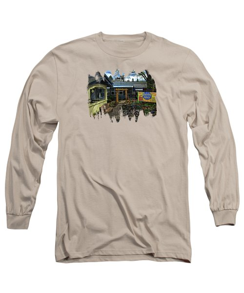 Long Sleeve T-Shirt featuring the photograph Morning Glory Cafe Ashland by Thom Zehrfeld