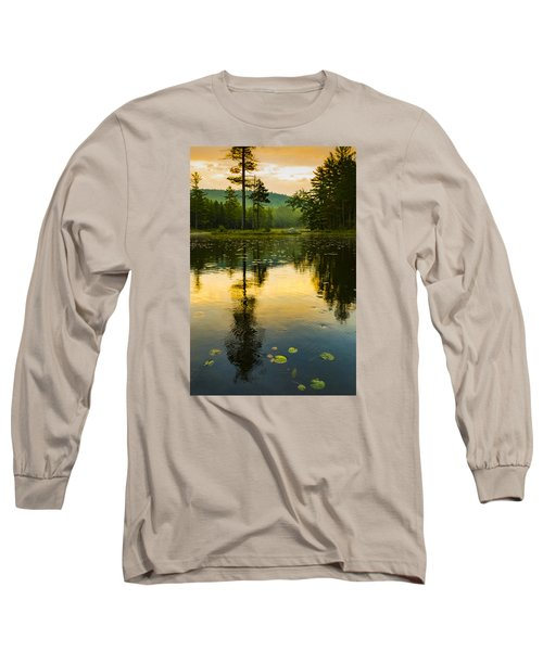 Morning Glow On Lake Long Sleeve T-Shirt