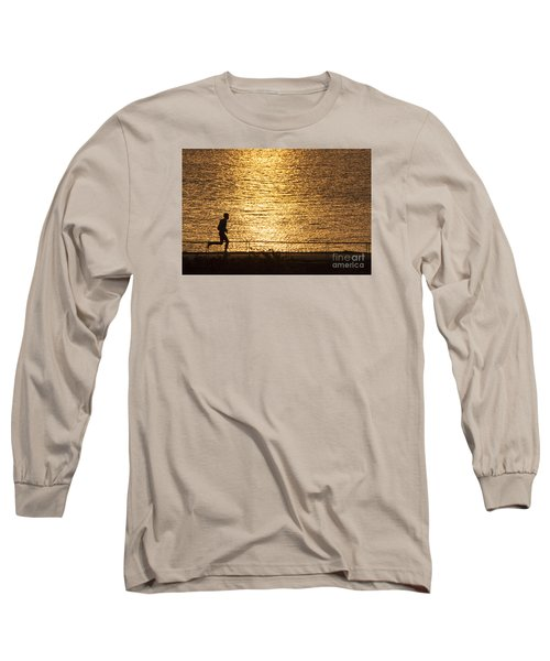 Long Sleeve T-Shirt featuring the photograph Morning Jog by Inge Riis McDonald