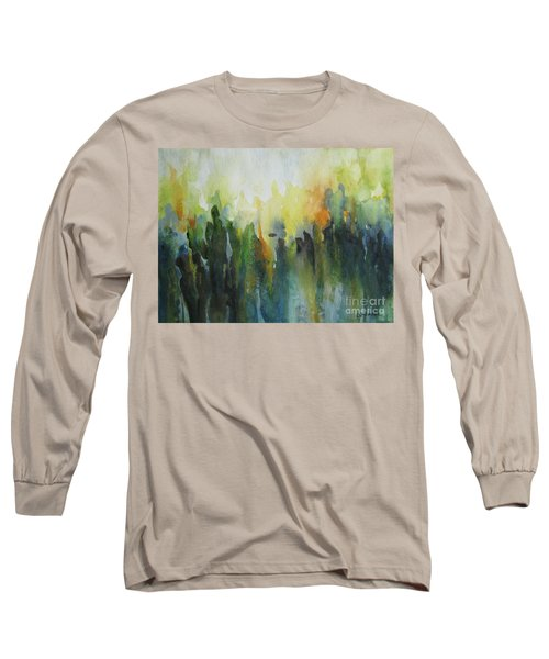 Long Sleeve T-Shirt featuring the painting Morning Light by Elena Oleniuc