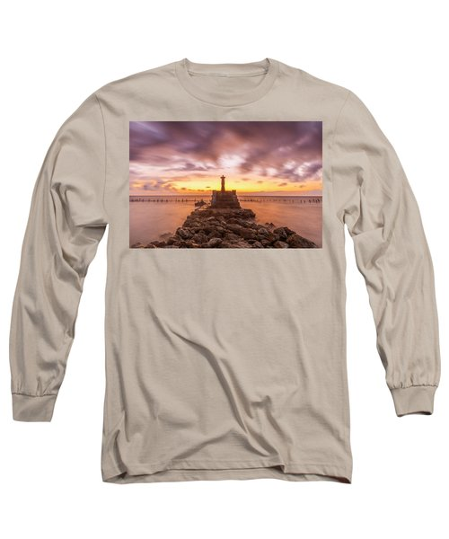 Morning Scene In Nusa Penida Beach Long Sleeve T-Shirt