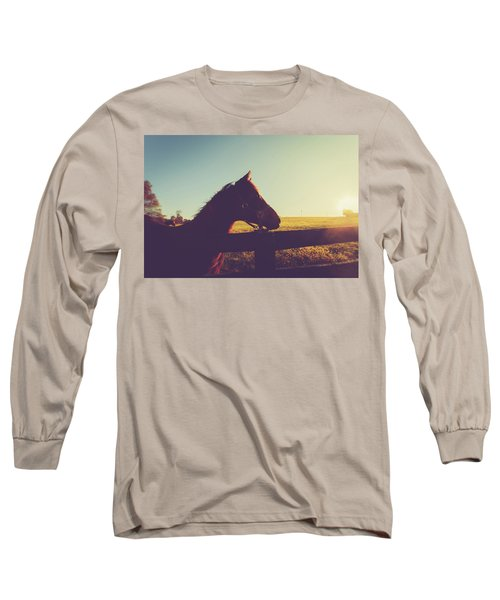 Long Sleeve T-Shirt featuring the photograph Morning  by Shane Holsclaw