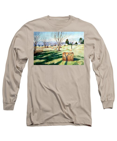 Morning Sun On Haybales Long Sleeve T-Shirt