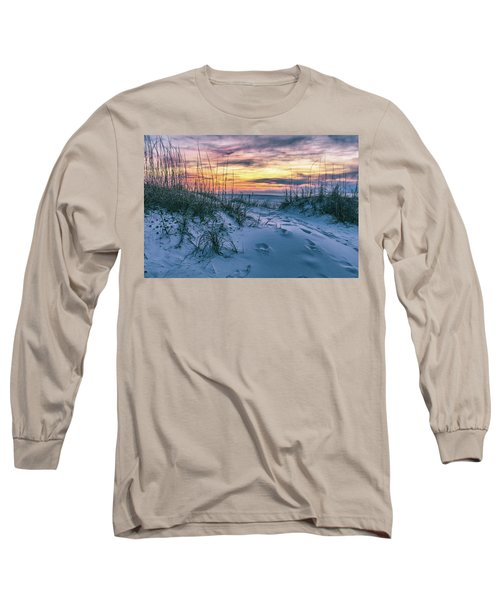 Long Sleeve T-Shirt featuring the photograph Morning Sunrise At The Beach by John McGraw