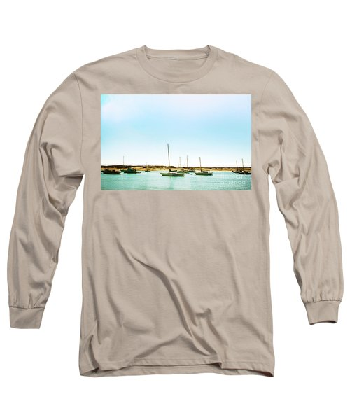 Moro Bay Inlet With Sailboats Mooring In Summer Long Sleeve T-Shirt