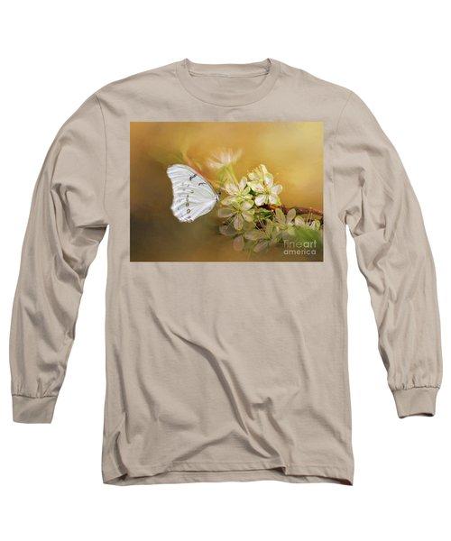 Morpho Luna  Long Sleeve T-Shirt by Eva Lechner