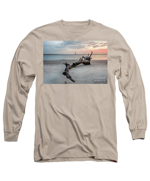 Morris Island Long Sleeve T-Shirt by Robert Loe