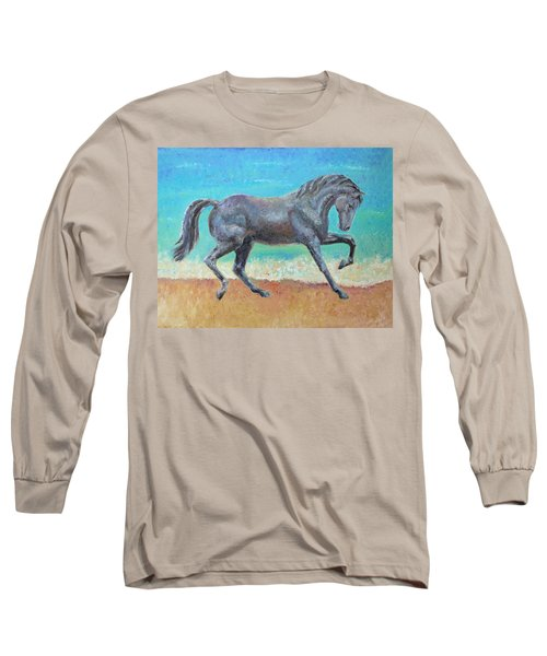 Long Sleeve T-Shirt featuring the painting Mosaic by Elizabeth Lock