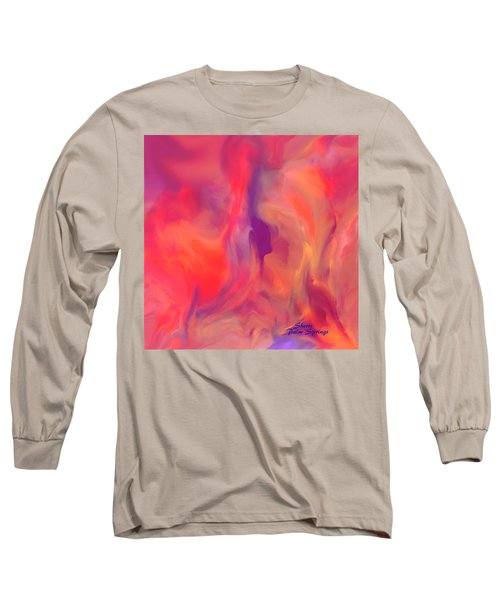 Mother And Daughter Abstract Long Sleeve T-Shirt by Sherri's Of Palm Springs
