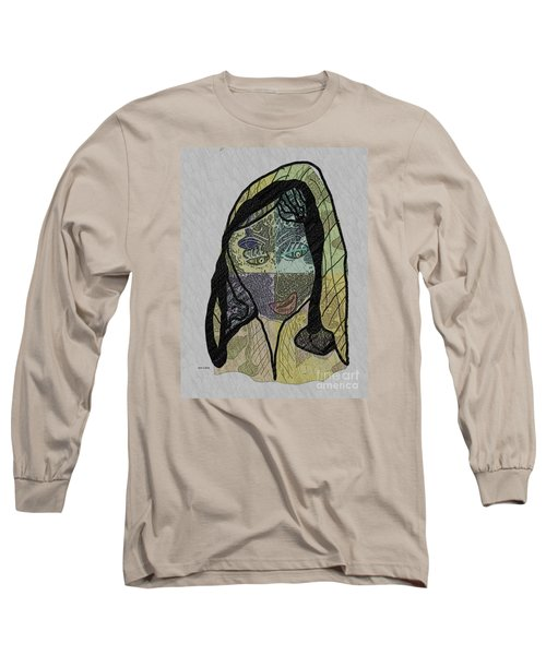 Long Sleeve T-Shirt featuring the mixed media Mother Teresa  Never Forget by Ann Calvo