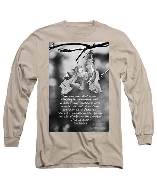 Long Sleeve T-Shirt featuring the photograph Mother's Day Saying by Debby Pueschel