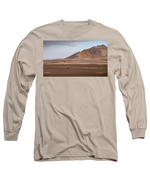 Motorcycles In Persian Desert Long Sleeve T-Shirt
