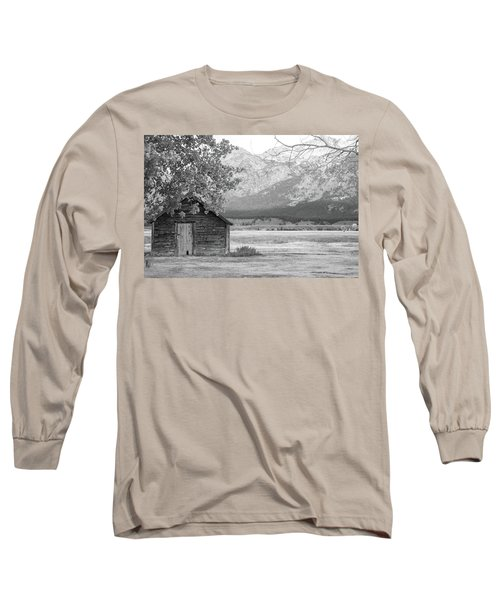 Long Sleeve T-Shirt featuring the photograph Moulton Homestead - Granary by Colleen Coccia