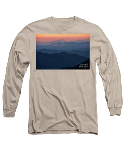Mount Baker Sunset Landscape Layers Closer Long Sleeve T-Shirt
