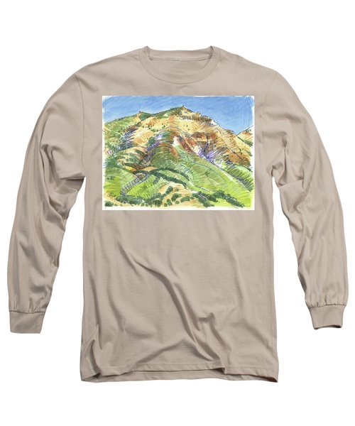 Mount Diablo From Curry Valley Ridge Long Sleeve T-Shirt