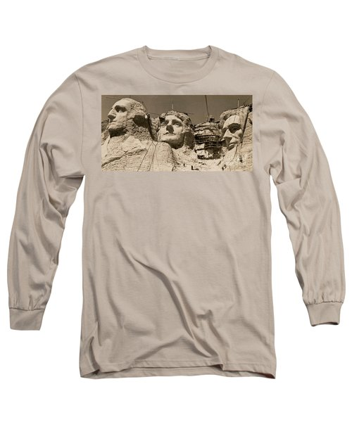 Mount Rushmore Construction  Long Sleeve T-Shirt