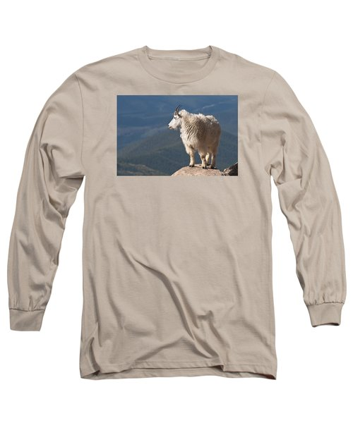 Long Sleeve T-Shirt featuring the photograph Mountain Goat by Gary Lengyel