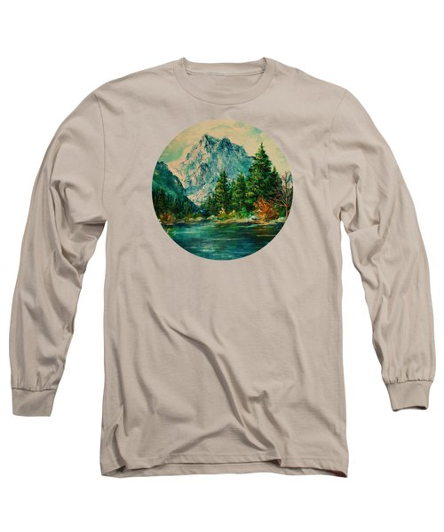 Mountain Lake Long Sleeve T-Shirt by Mary Wolf