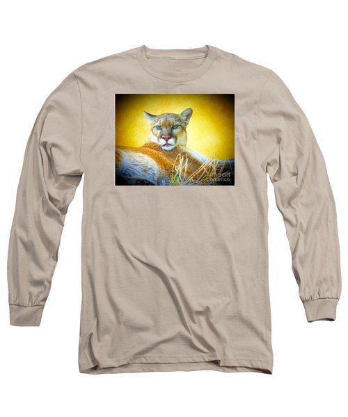 Mountain Lion Two Long Sleeve T-Shirt by Suzanne Handel