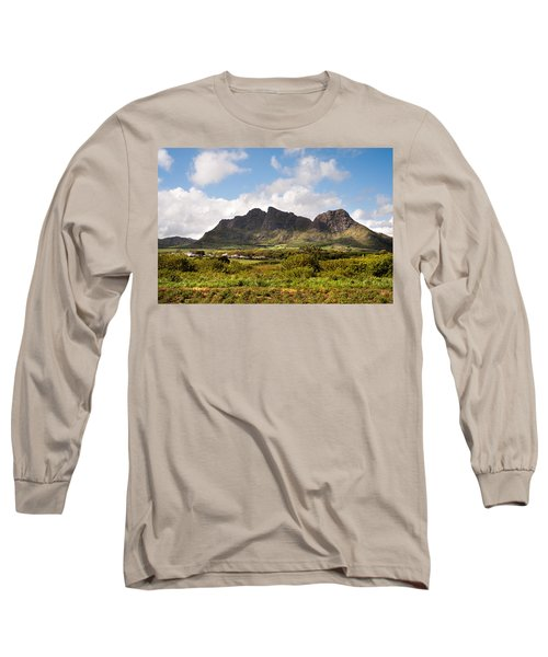 Long Sleeve T-Shirt featuring the photograph Mountain Range In Mauritius by Jenny Rainbow