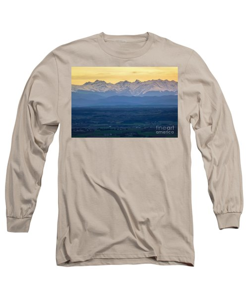 Mountain Scenery 15 Long Sleeve T-Shirt by Jean Bernard Roussilhe
