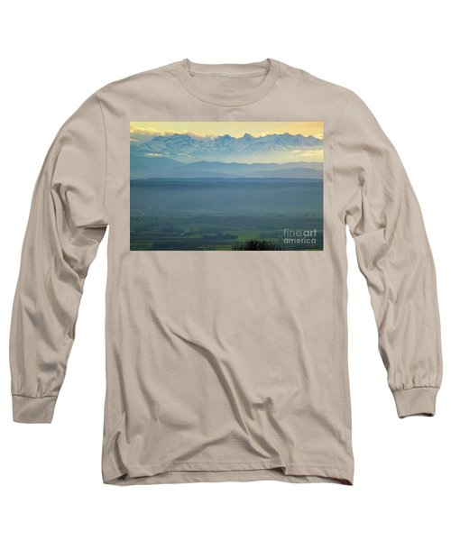 Mountain Scenery 18 Long Sleeve T-Shirt by Jean Bernard Roussilhe