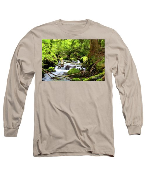 Mountain Stream In The Pacific Northwest Long Sleeve T-Shirt