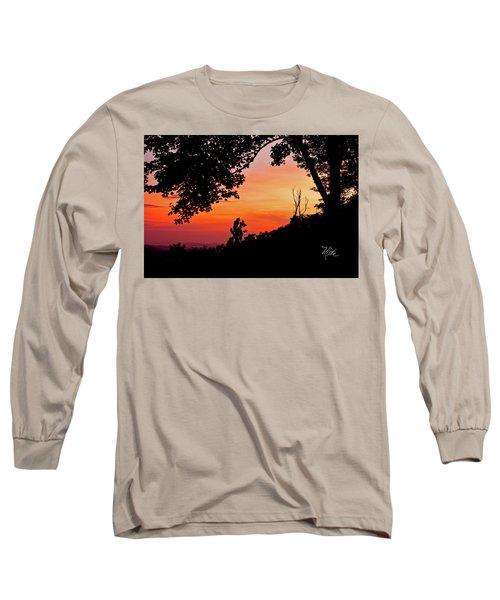 Mountain Sunrise Long Sleeve T-Shirt by Meta Gatschenberger