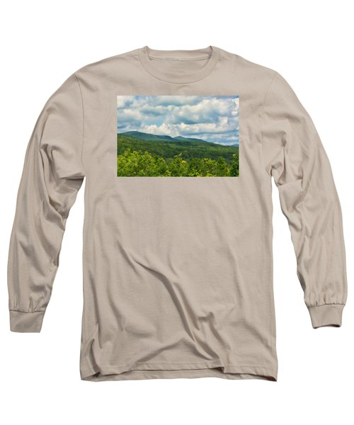 Mountain Vista In Summer Long Sleeve T-Shirt by Nancy De Flon