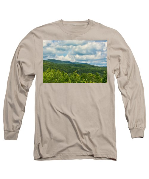 Mountain Vista In Summer Long Sleeve T-Shirt