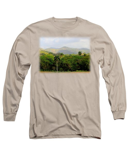Mountains And Palms Long Sleeve T-Shirt