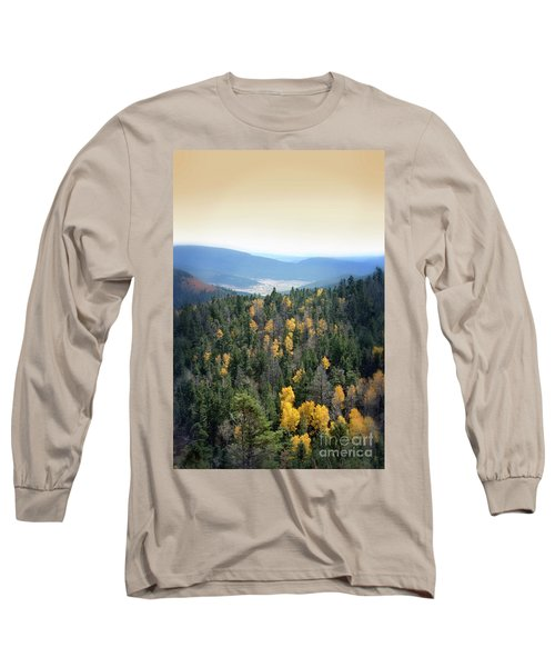 Mountains And Valley Long Sleeve T-Shirt by Jill Battaglia