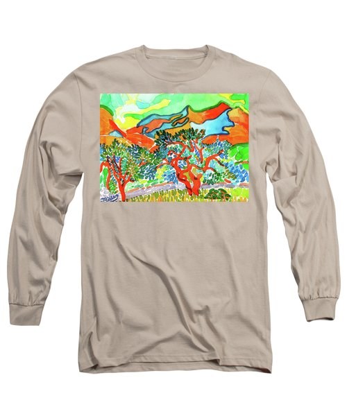 Mountains At Collioure Long Sleeve T-Shirt
