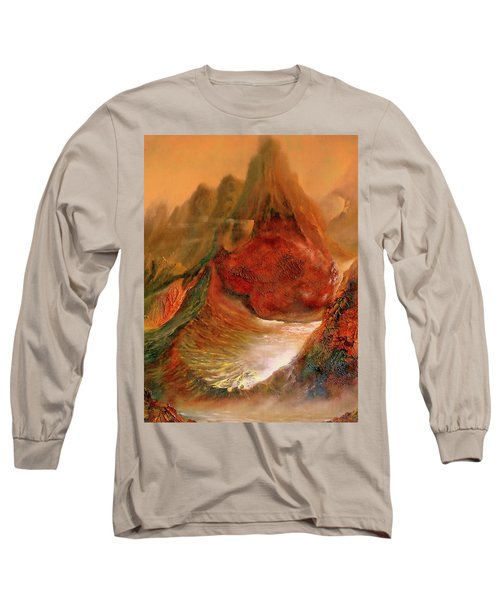 Mountains Fire Long Sleeve T-Shirt