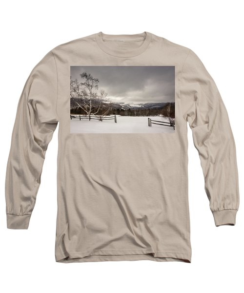 Mountains In Winter Long Sleeve T-Shirt