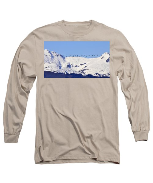 Mountaintop Geese Long Sleeve T-Shirt